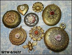 WTW 6/14/17 Vintage lockets from B'sue Boutiques. ♡ opalrosebydanielle.etsy.com