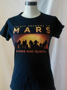 30 Seconds to Mars womens concert t-shirt 2010 tour King and Queens size L