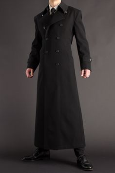 Overalls For Mens Fashion Key: 4945036344 Victorian Coat, Victorian Fashion, Long Leather Coat, Cool Coats, Fur Clothing, Suit Accessories, Mens Fashion Suits, Cool Outfits, Menswear