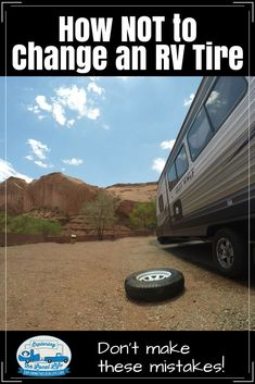 We avoided an RV tire blowout, but our RV tire change was a long and drawn out process. See first hand our mistakes and learn from us!!! #rvlife #fulltimerving #rvtireblowout
