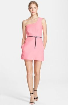 Victoria, Victoria Beckham One-Shoulder Jacquard Sheath Dress