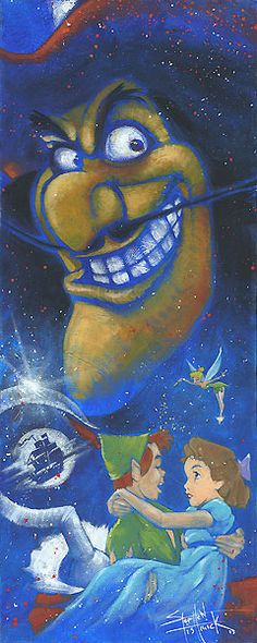 Peter Pan - Wicked Captain - Stephen Fishwick - World-Wide-Art.com