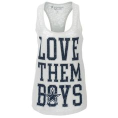Dallas Cowboys Women's Love Them Boys Tank