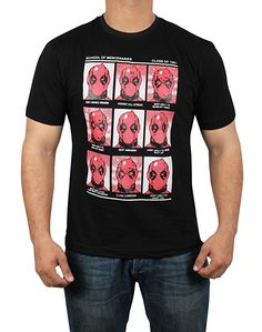 f015e3252 Amazon - Miracle(Tm) Deadpool School of Mercenaries Shirt - Mens Black Half Sleeves  T-Shirt (L)
