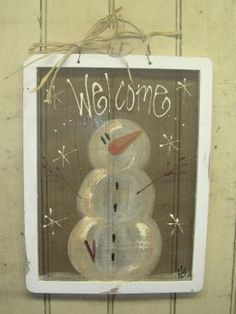snowman-painted-screen