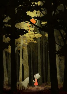 illustration, in the forest