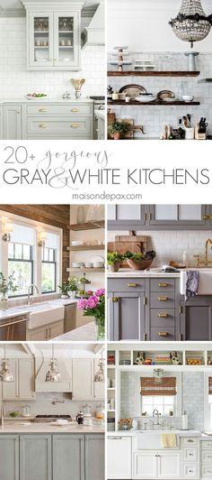 20+ Gorgeous Gray and White Kitchens | Maison de Pax | Bloglovin'