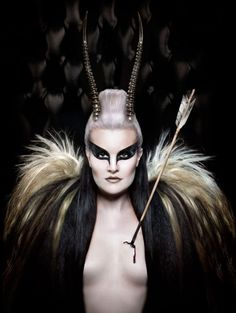 Gozra Lozano - Leigh de Vries - makeup by photographer - Wounded Gazelle Concert Makeup, Wasteland Warrior, Dark Beauty Magazine, Rare Birds, Fantasy Costumes, Family Costumes, Halloween Horror, Medieval Fantasy, War Paint