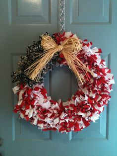 American Flag Wreath from Cole's Custom Creations