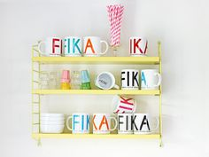 FIKA Serving Tray Swedish large 38 cm. Grey