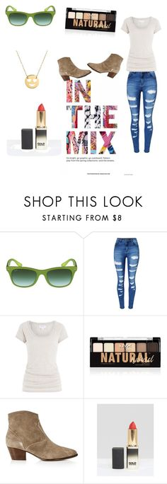 """Cool Girl Vibes"" by fredericaehimen ❤ liked on Polyvore featuring Ray-Ban, WithChic, Velvet, NYX, Ash, L'Oréal Paris and Jane Basch"