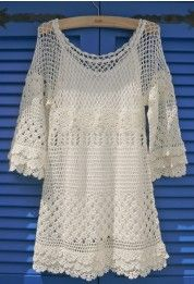 Hand Knit Delicacy of Crochet Dress
