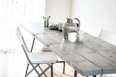 DIY Worn Look Table from Scratch Tutorial