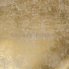 Vliesové tapety na zeď La Veneziana 2 zlatá s metalickým efektem