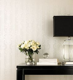Silk texture #wallpaper just needs a little sunlight to bring a wall to life. Beautiful silk textured wallpapers from http://wallcoverings2u.com/16-silk-classics
