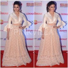Yay or Nay : Alia Bhatt in Abu Jani and Sandeep Khosla Western Dresses, Indian Dresses, Indian Outfits, Western Outfits, Long Skirt And Top, Long Dress Design, Prom Dresses Two Piece, Long Gown Dress, Indian Attire
