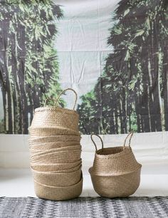 Natural Seagrass Basket from Rose & Grey
