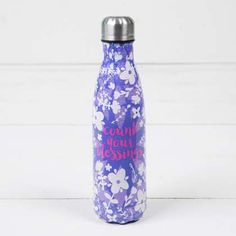 """""""Count Your Blessings"""" Double Wall Water Bottle"""