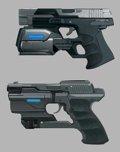 Hand Guns, James Lillich on ArtStation at http://www.artstation.com/artwork/laser-pistols
