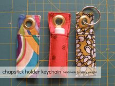 Make this chapstick holder keychain and pair it with your friend's favorite chapstick!