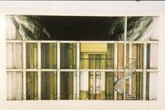 """Escenografía de """"Largo viaje hacia la noche"""".  Escenografía y vestuario: Andrea D'Odorico. 1988. Stage Set Design, Theatre Design, Theater, Furniture, Home Decor, Dressing Rooms, Voyage, Night, Sketches"""