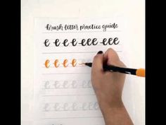 Brush Lettering Lowercase e with Tombow Dual Brush Pen