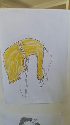 Kroki plus kläder av gamla mönster