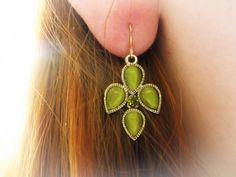 My wedding green earring <3