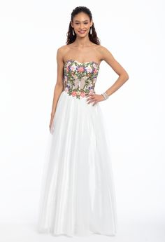 3e6925ec716 Rose Embroidery Corset Tulle Ball Gown. camillelavie.com