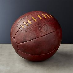Shop Heritage Brown Leather Medicine Ball.   Individually handcrafted from top-grain leather, these few-of-a-kind medicine balls come to us from New Zealand-based MVP (Modest Vintage Player).