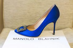 #Blue Manolo Blahnik #wedding #shoes.