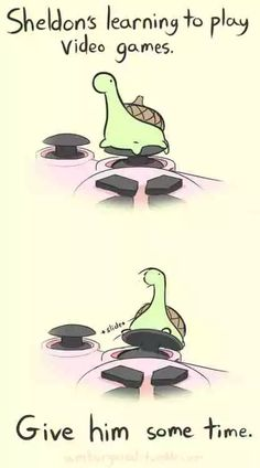 Sheldon The Tiny Dinosaur Who Thinks He's A Turtle Learning to Play Video Games Sheldon The Tiny Dinosaur, Turtle Dinosaur, Matsuri Hino, Sarah Andersen, Desu Desu, Funny Animals, Cute Animals, Online Comics, Tiny Turtle