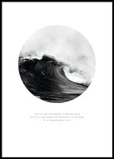 Mooie poster met foto en tekst