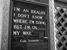 I'm an idealist..