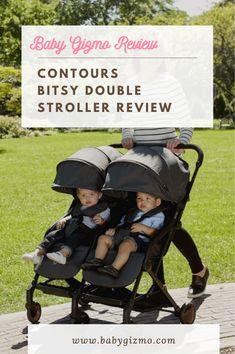 Contours Bitsy Double Stroller Review Double Stroller Reviews, Double Strollers, Baby Strollers, Travel Stroller, Everything Baby, Contours, Baby Gear, Car Seats, Nursery
