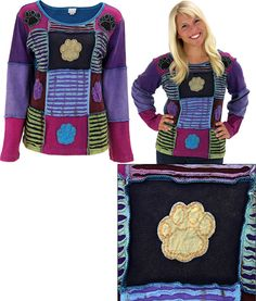 Patchwork Paw Long Sleeve Top