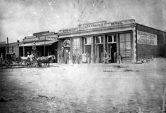 Downtown Los Angeles, circa 1854. The Main Street store of Solomon Lazard, Jewish merchant and civic leader of early Los Angeles. Source: Jewish Museum of the American West