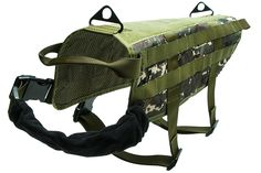 Tenkey Tenkey Tactical Police K9 Vest Harness Molle USA Milspec Canine Velcro Us Military Camouflage green * Save this wonderfull item : All pet supplies