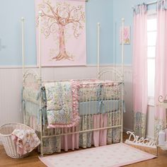 Hey, I found this really awesome Etsy listing at https://www.etsy.com/listing/183486785/girl-baby-crib-bedding-love-birds-4