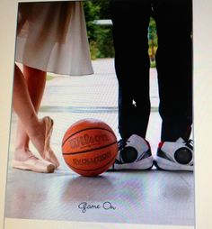 Basketball and ballet Save the Date
