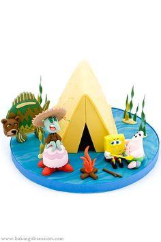 SpongeBob Cake – Camping Episode – Sea Bear Attack by Baking Obsession Spongebob Memes, Spongebob Squarepants, Bear Attack, Attack Attack, Cakes For Boys, Boy Cakes, Clean Eating Kids, Squidward Tentacles, Best Cake Ever