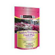 Fertilome Azalea/Evergreen Food Plus with Systemic 19-15-13 feed plants and protects against insect pests in one easy application. This product is absorbed through the roots and travels through the entire plant! Azalea-Evergreen Food Plus with Systemic 19-15-13 by Rustica House. #myRustica