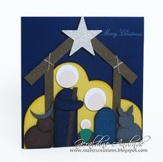 Mafer's Creations: NATIVITY PUNCH ART - MADE WITH A CRIB troqueladores