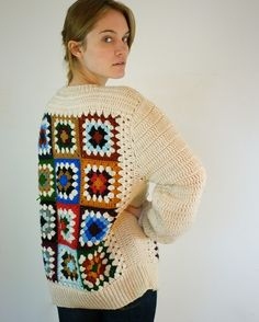 RESERVED. Granny Square Vintage Sweater by jessjamesjake on Etsy
