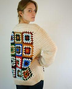 RESERVADOS. Abuela Plaza Vintage suéter por jessjamesjake en Etsy
