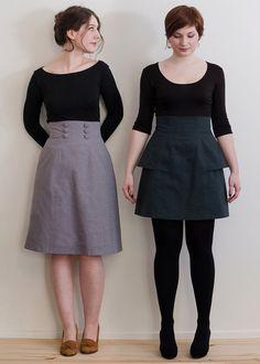 Deer and Doe Anémone skirt, short version sans peplum, in white/pink/mauve/black Carolina Herrera cotton sateen