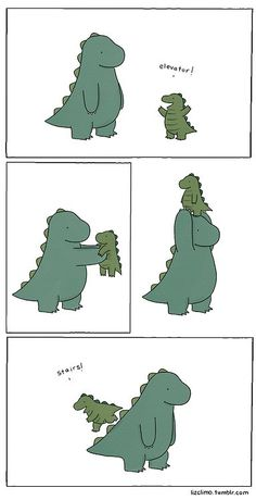 Liz Climo's Dino Daddy. Awww...