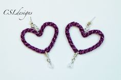http://www.pandahall.com/?from=when In this tutorial I show you how to make a pair of heart shaped kumihimo earrings. Please feel free to give it a go yourse...