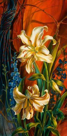 Patland lilies by Vie Dunn-Harr.