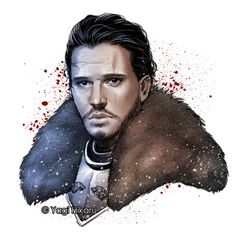 My fan art of Jon Snow/ the King in the North